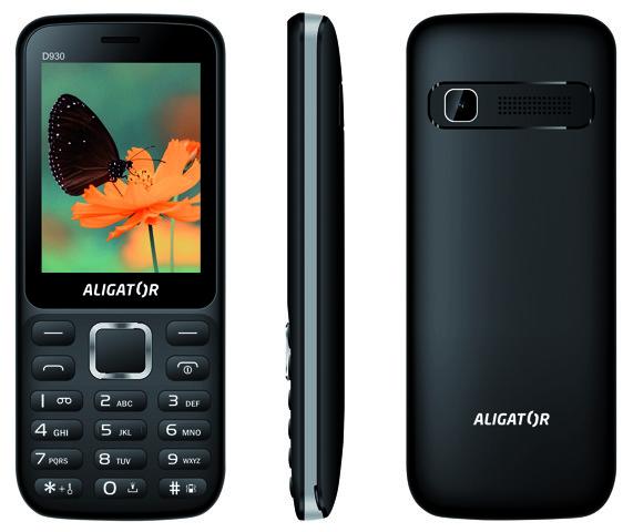 ALIGATOR D930 Dual sim černo-stříbrný