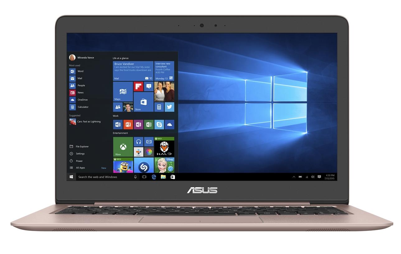 """ASUS UX310UA-FC990T Core i3-7100U/4GB/128GB SSD SATA3/Intel HD Graphics 620/13,3"""" IPS 1920x1080 FHD/Matný/W10 Home/Gold"""