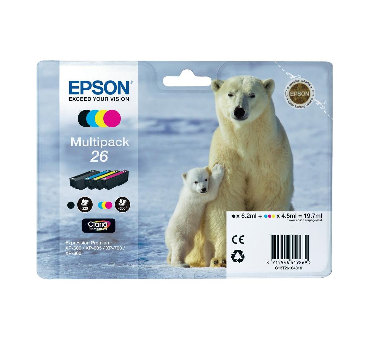 Bundle Epson T2616 CMYK Claria | XP-600/700/800