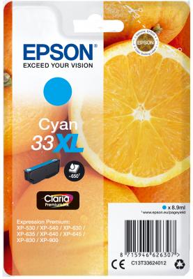 Epson Singlepack Cyan 33XL Claria Premium Ink