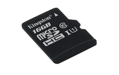 KINGSTON 16GB microSDHC CANVAS Memory Card 80MB/10MBs- UHS-I class 10 Gen 2 - BEZ ADAPTÉRU