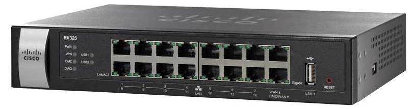 Cisco RV325-WB, 2x Gigabit WAN, 4x Gigabit LAN VPN Router with Web Filtering