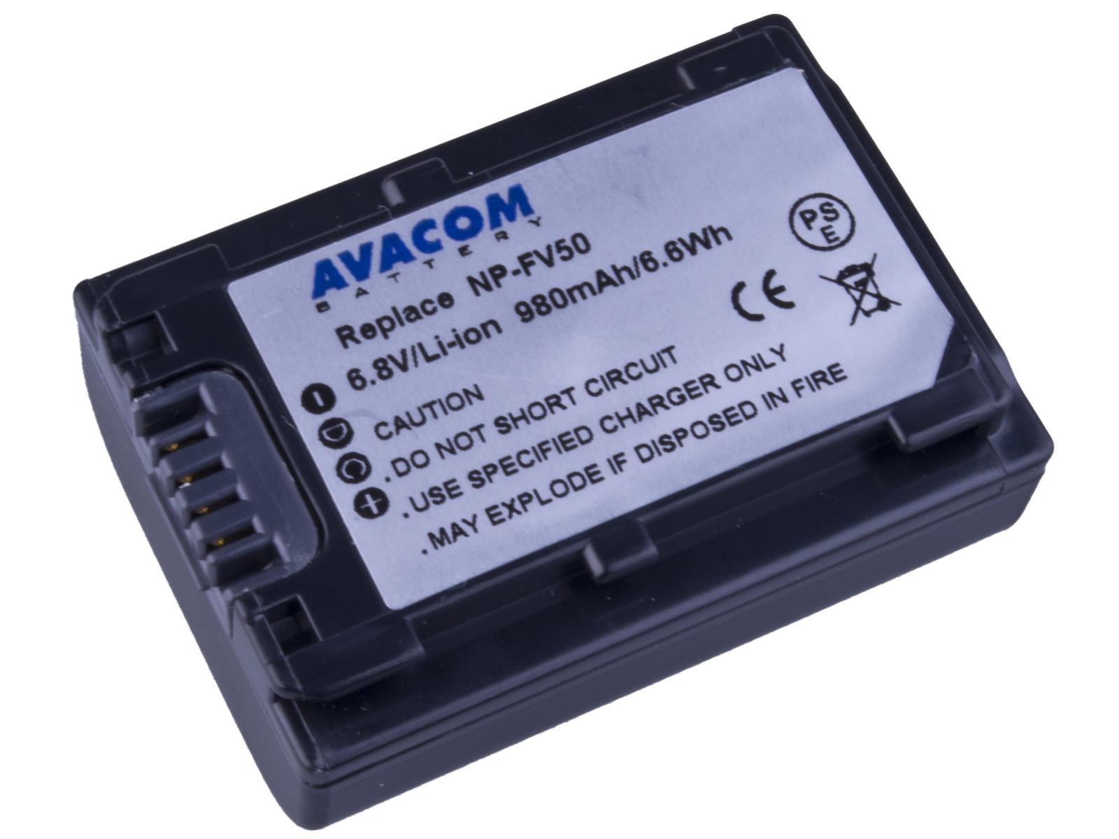 Baterie AVACOM Sony NP-FV50 Li-ion 6.8V 980mAh