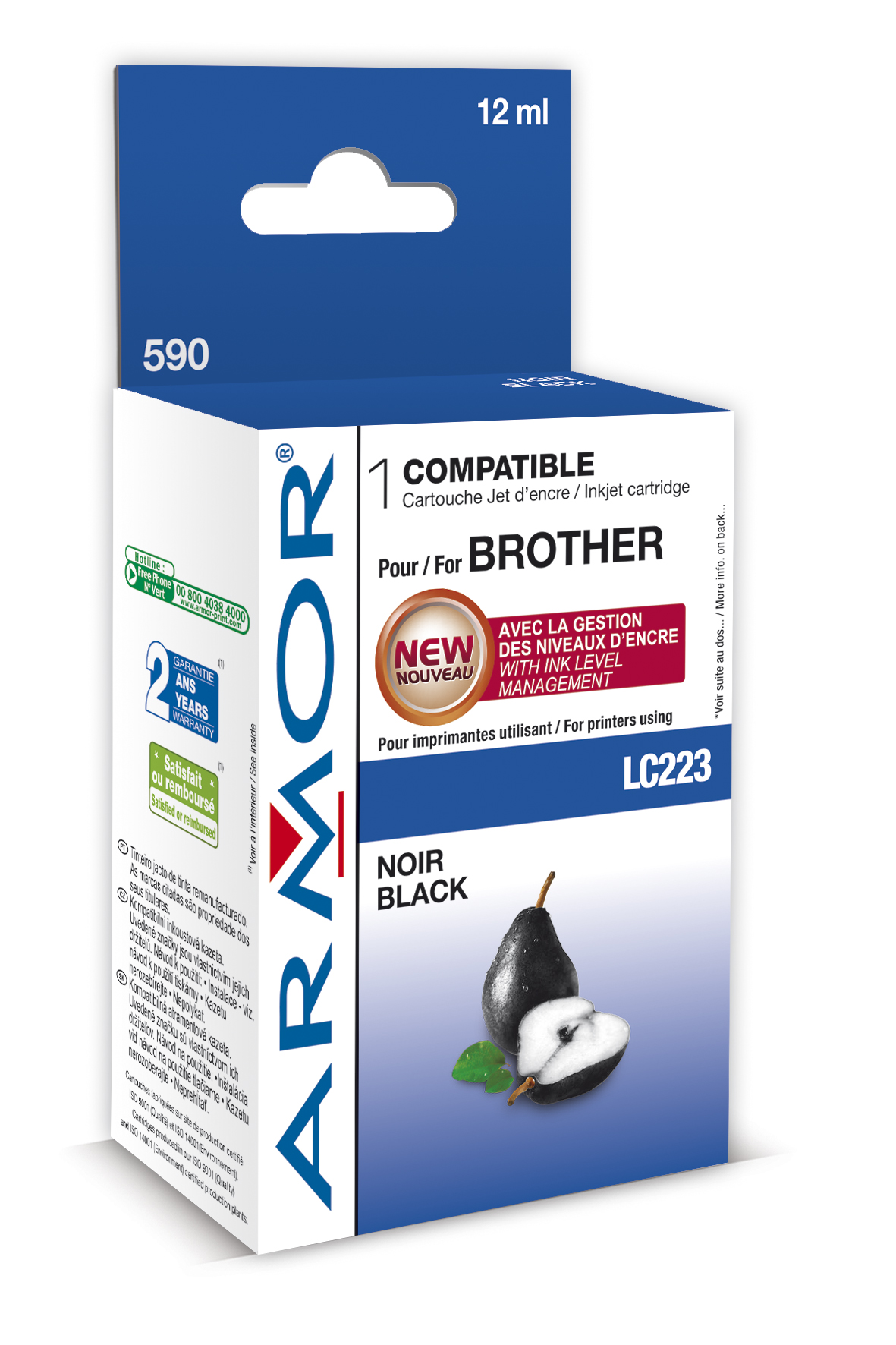 Armor ink-jet Brother DCP-J4120 (LC223BK) 12ml