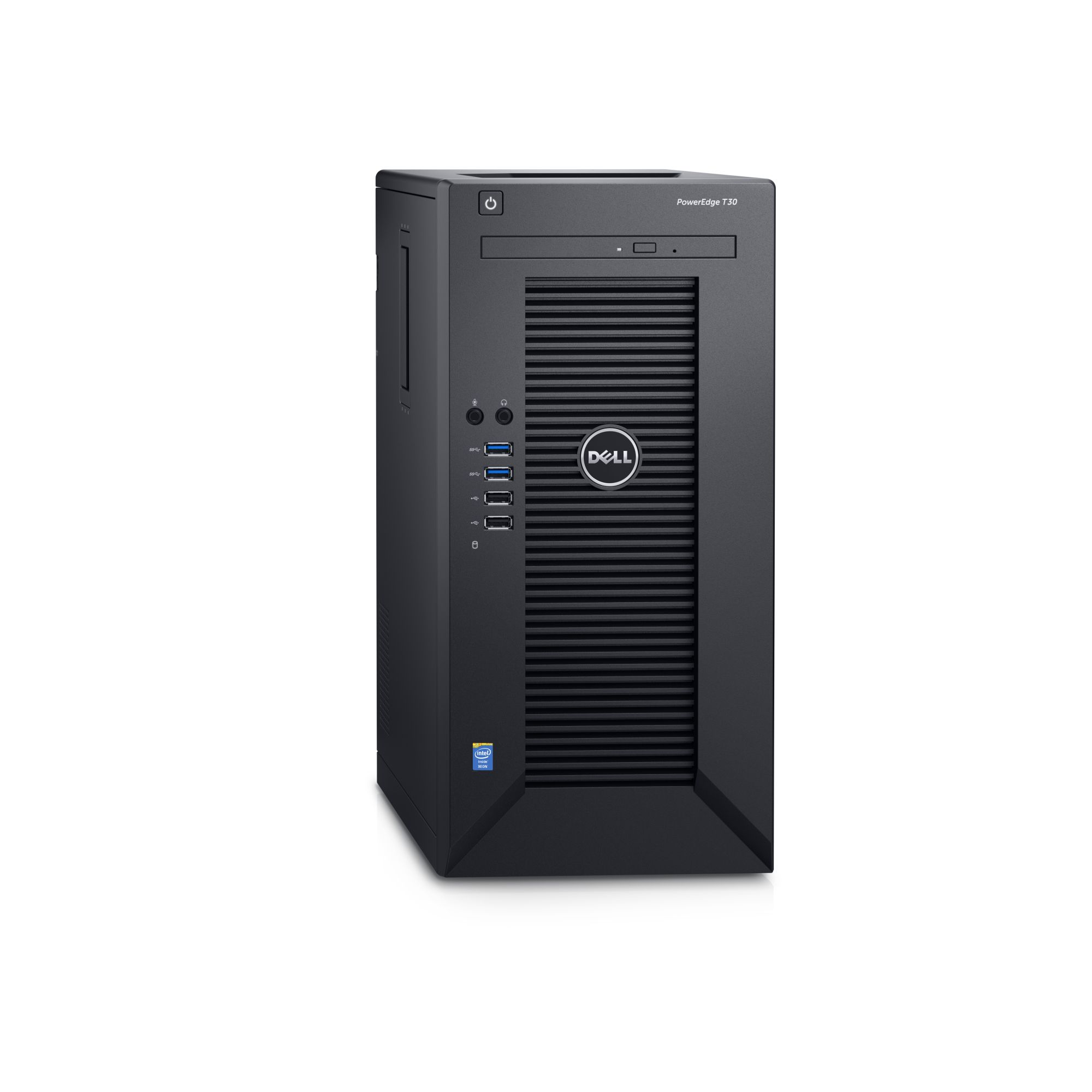 Dell PowerEdge T30 E3-1225 v5/32GB/4x1TB SATA/RAID 5/DVDRW/3xGLAN/290W/3RNBD/Černý