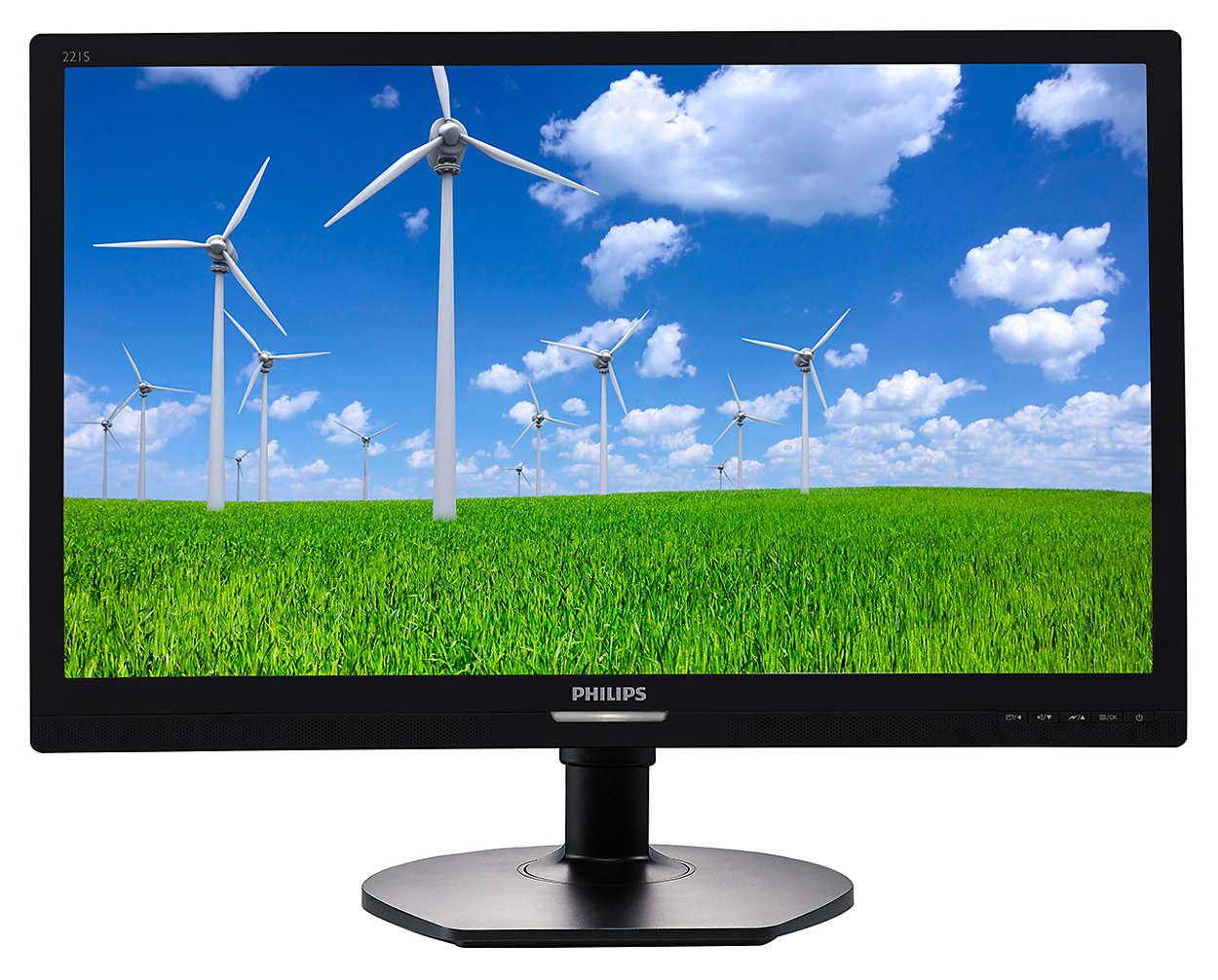 """Philips LCD 221S6QYMB/00 21,5"""" Wide IPS/1920x1080/20M:1/5ms/250 cd/VGA/DVI-D/DP/Repro"""