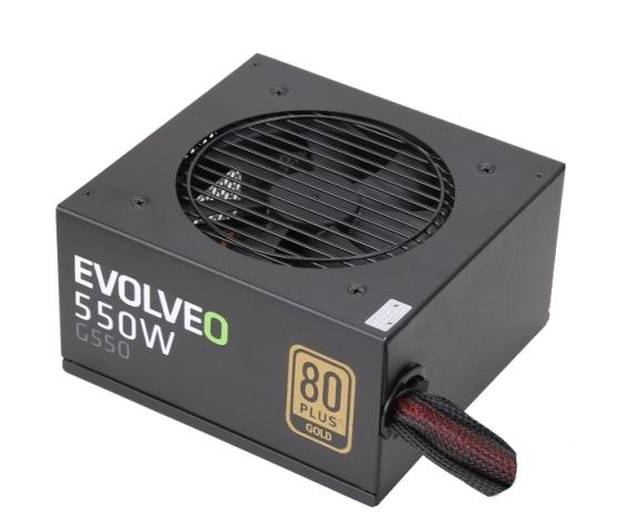 EVOLVEO G550 zdroj 550W, eff 90%, 80+ GOLD, aPFC, retail