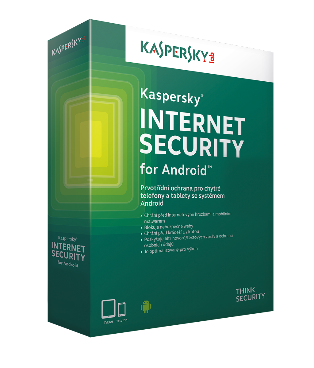 Kaspersky Internet Security ANDROID 3x/1rok/Nová