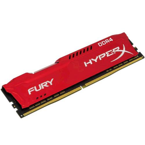 KINGSTON 8GB 2666MHz DDR4 CL16 DIMM 1Rx8 HyperX FURY Red