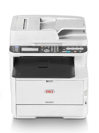 !! AKCE !! OKI MC363dnw A4 30/26 ppm ProQ2400dpi, PCL/PS, RADF, 1GB RAM, USB 2.0 LAN, WIFI (Print/Scan/Copy/Fax)