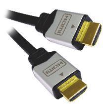 PremiumCord kabel HDMI M/M, zlac.a kovové HQ, 10m