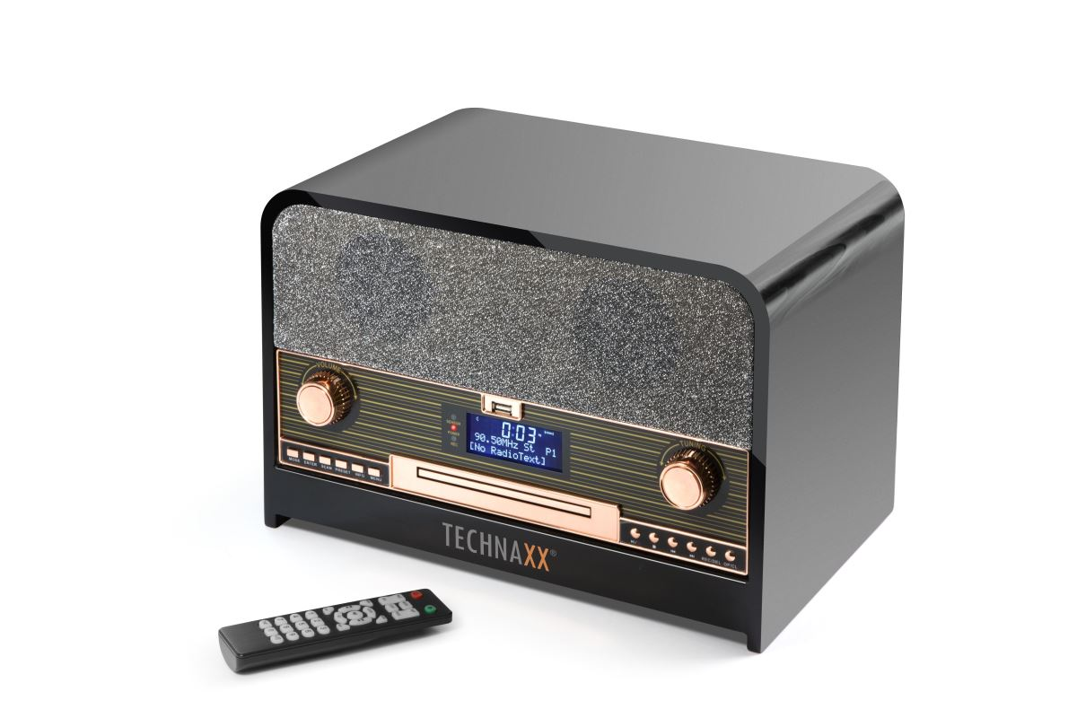 Technaxx Retro CD přehrávač, BT, DAB+/FM, USB