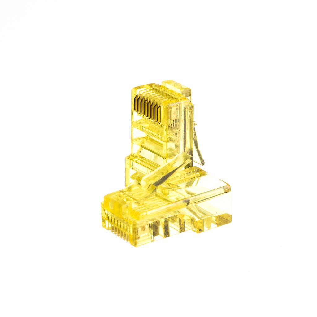 Netrack GoldMax 50u konektor RJ45 8p8c, UTP lanko, cat. 5e (100 ks), žlutý
