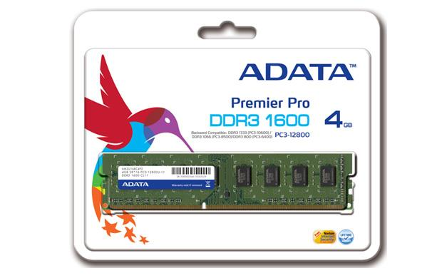 ADATA XPG V1.0 4GB 1600MHz DDR3 CL9, 1.5V, chladič