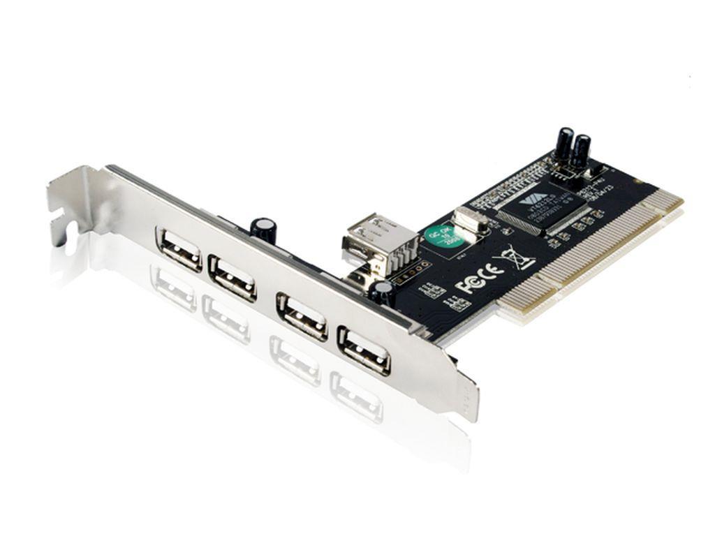 Gembird USB 2.0 4+1 port PCI host adaptér