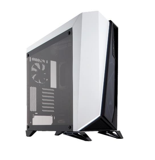 Corsair PC skříň Carbide Series Spec-Omega ATX Mid-Tower, tvrzené sklo, bílá