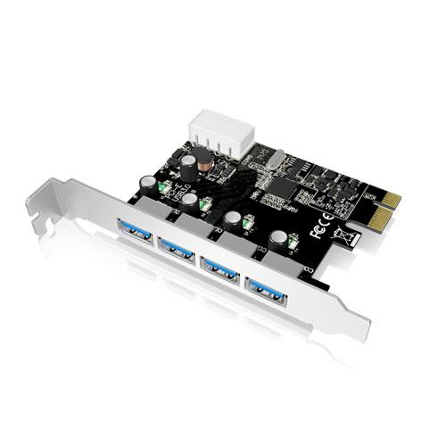 IcyBox USB 3.0 PCI-E Expansion Card with 4x USB 3.0 port