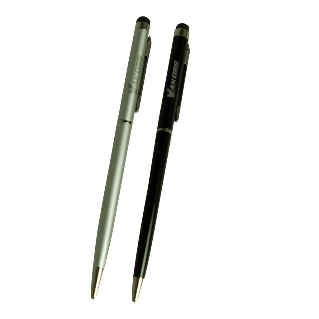 VAKOSS Kapacitní stylus s perem 2v1 SB-367 2-pack silver/black