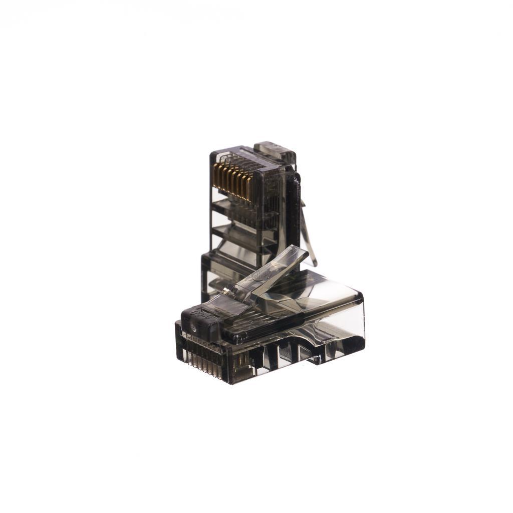 Netrack GoldMax 50u konektor RJ45 8p8c, UTP drát, cat. 5e (100 ks), černý