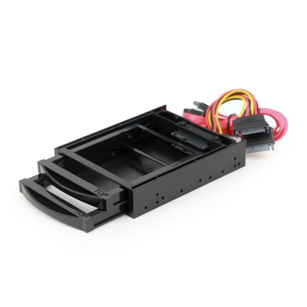 Gembird 3.5'' mobilní regál pro dva disky SSD/HDD 2.5'', černé