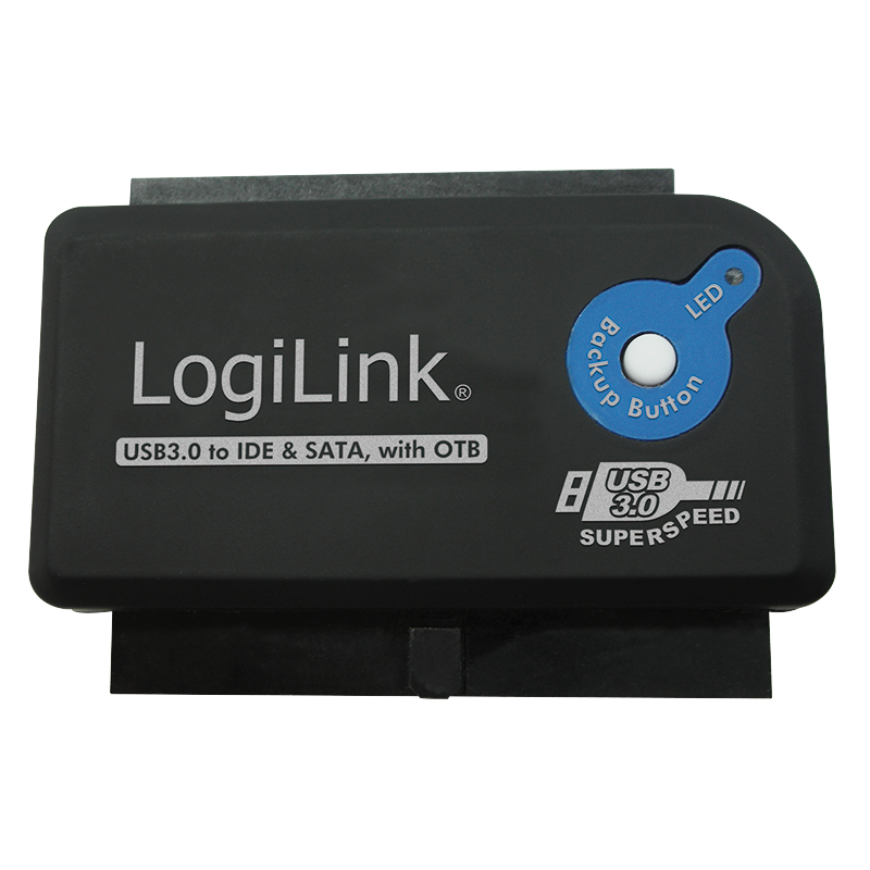 LOGILINK - USB 3.0 to IDE & SATA Adapter with OTB