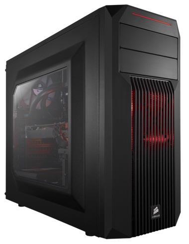 Corsair PC skříň Carbide Series™ SPEC-02 RED LED Mid Tower Gaming, větrák 120mm