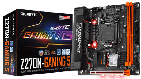 Gigabyte GA-Z270N-Gaming 5, DDR4, SATA interface, USB Type-C and A