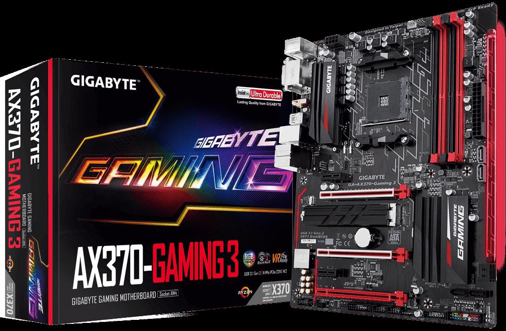 Gigabyte GA-AX370-Gaming 3, AM4, DDR4 3200, USB 3.1, DVI-D/HDMI