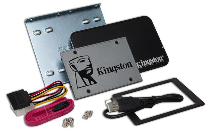 "Kingston Flash 480GB SSDNOW UV500 SATA3 2.5"" Bundle"