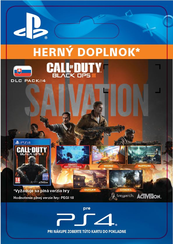 ESD CZ PS4 - Call of Duty: Black Ops III - Salvation DLC