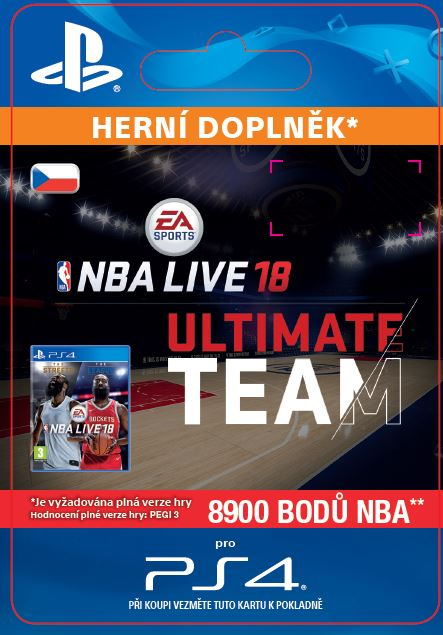 ESD CZ PS4 - EA SPORTS™ NBA LIVE 18 ULTIMATE TEAM™ - 8900 NBA POINTS