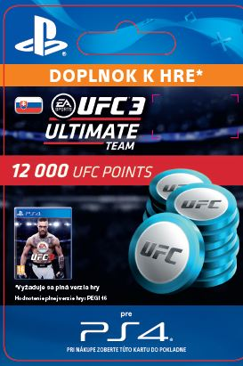 ESD SK PS4 - EA SPORTS™ UFC® 3 - 12000 UFC POINTS