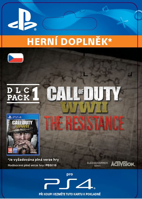 ESD SK PS4 - Call of Duty®: WWII - The Resistance: DLC Pack 1 (30.1.2018)