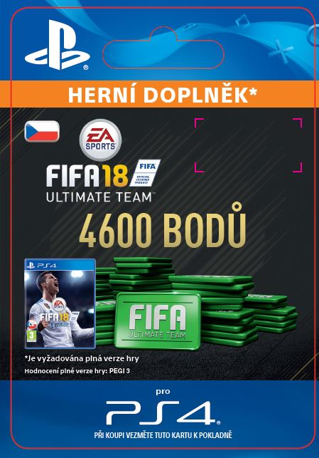 ESD CZ PS4 - 4600 FIFA 18 Points Pack