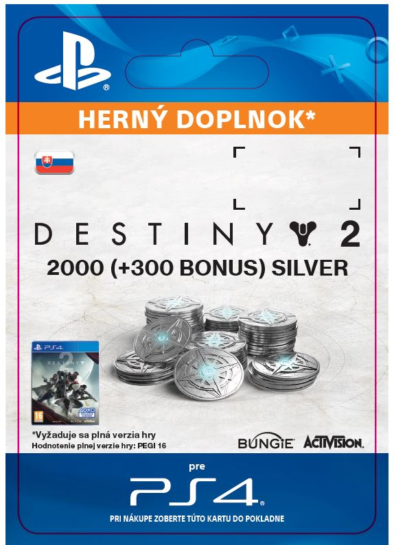 ESD SK PS4 - 2000 (+300 Bonus) Destiny 2 Silver