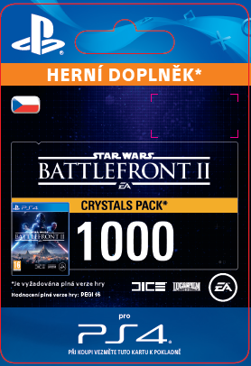 ESD CZ PS4 - STAR WARS™ Battlefront™ II: 1000 Crystals (Av. 14.11.2017)