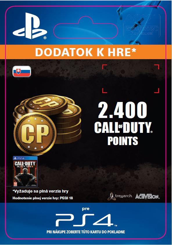 ESD SK PS4 -2,000 (+400 Bonus) Call of Duty Points