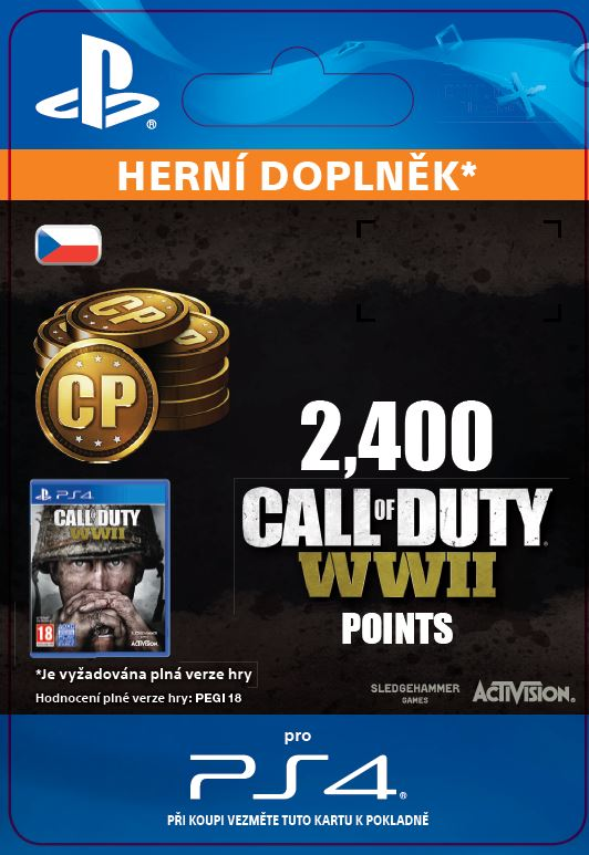 ESD CZ PS4 - 2,400 Call of Duty®: WWII Points (Av.22.11.2017)