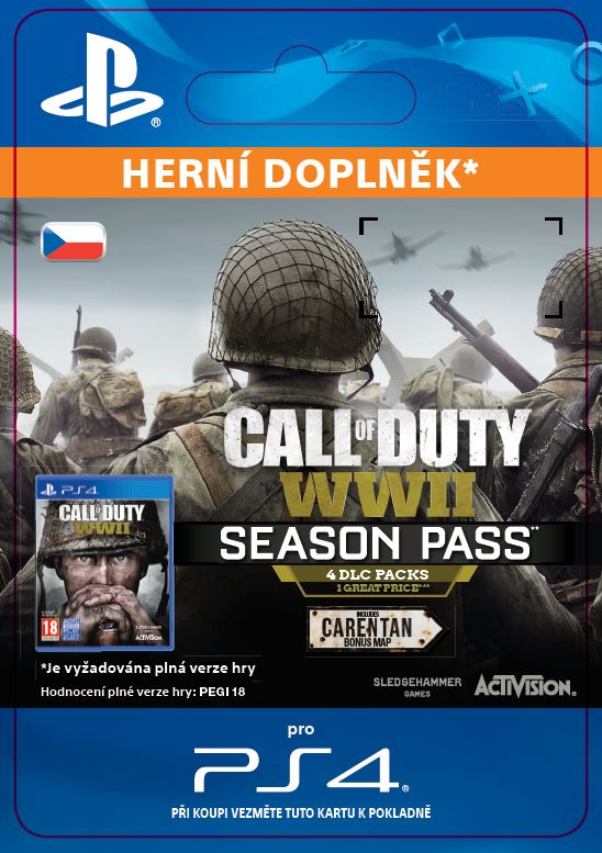 ESD CZ PS4 - Call of Duty®: WWII - Season Pass (Av. 03.11.17)