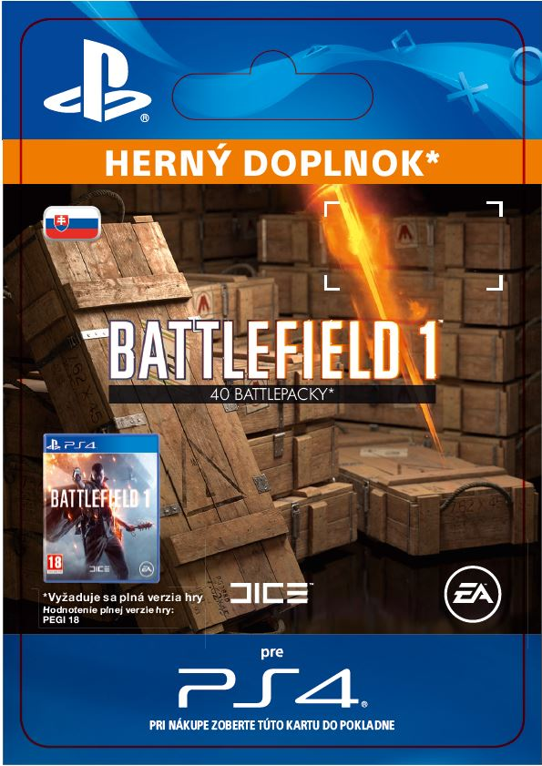 ESD SK PS4 - Battlefield 1 Battlepacks x 40