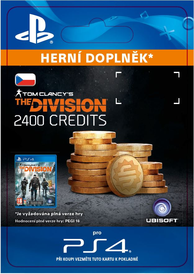 ESD CZ PS4 - Tom Clancy's The Division - 2400 Premium Credits Pack