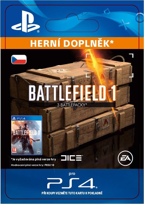 ESD CZ PS4 - Battlefield 1 Battlepacks x 3
