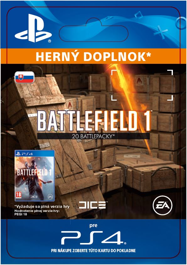 ESD SK PS4 - Battlefield 1 Battlepacks x 20