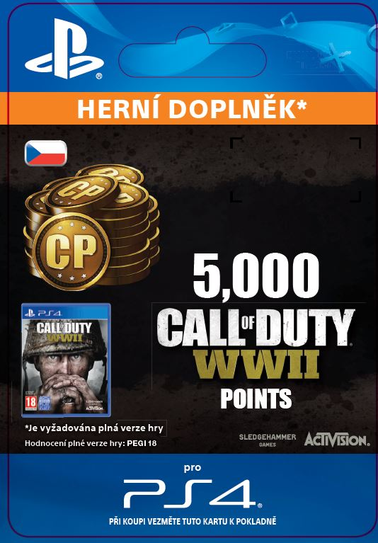ESD CZ PS4 - 5,000 Call of Duty®: WWII Points (Av.22.11.2017)