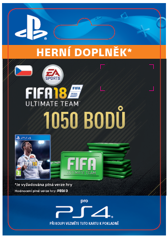 ESD CZ PS4 - 1050 FIFA 18 Points Pack