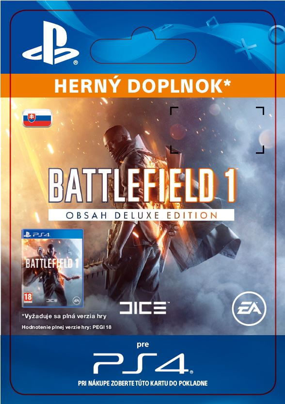 ESD SK PS4 - Battlefield 1 Deluxe Edition Content
