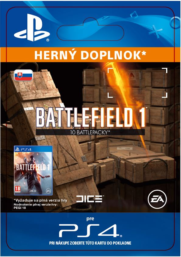ESD SK PS4 - Battlefield 1 Battlepacks x 10