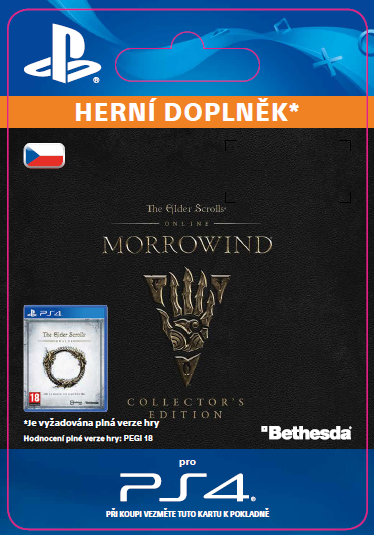 ESD CZ PS4 - The Elder Scrolls Online: Morrowind Collectors Edition Upgrade