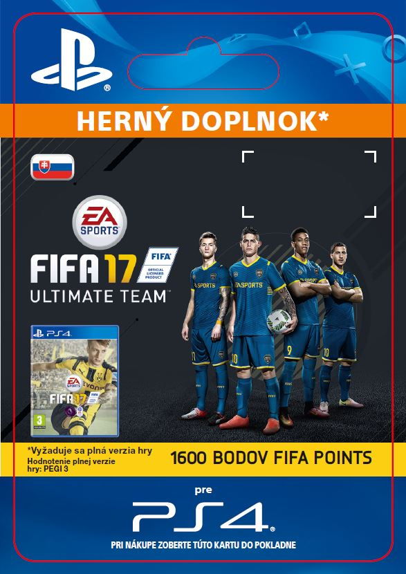 ESD SK PS4 - 1600 FIFA 17 Points Pack