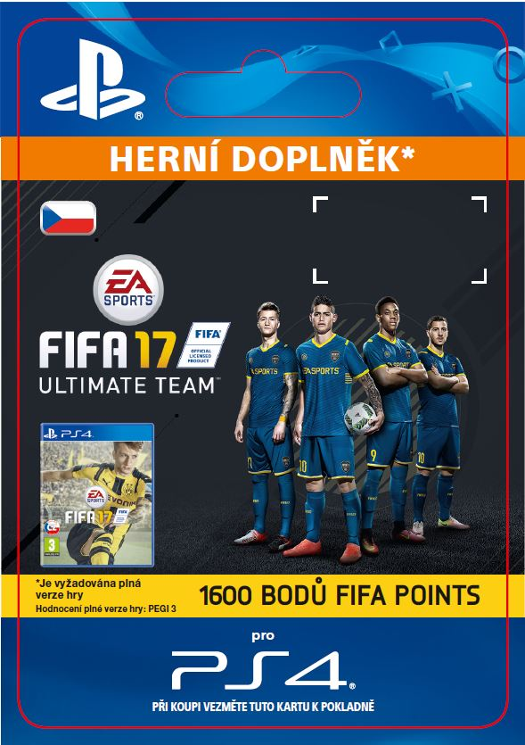 ESD CZ PS4 - 1600 FIFA 17 Points Pack